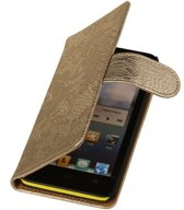 Lace Goud Huawei Ascend G630 - Book Case Wallet Cover Hoesje