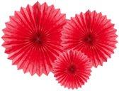 """""""Tissue fan, rood, 20-40cm (1 zakje met 3 stuks)"""""""