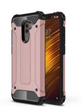 Let op type!! Diamond Armor PC + TPU warmte dissipatie beschermende case voor Xiaomi Pocophone F1 (Rose Gold)