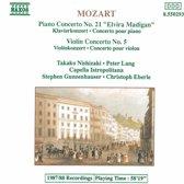 Mozart: Piano Concerto No 21, Violin Concerto No 5