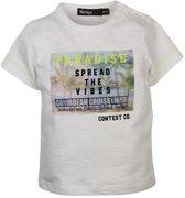 Dirkje kinderkleding Dirkje babywear witte jongens tshirt paradise - 104