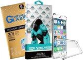 King Kong Armor Anti-Burst TelefoonHoesje ultieme bescherming & Tempered Glass voor IPhone 5/5S/5SE