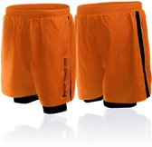 Short In Poly With Short Inside To Contr-orange