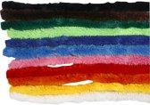 Chenille draad, dikte 15 mm, l: 30 cm, diverse kleuren, 200div
