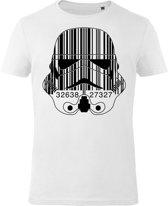 Star-Wars-T-shirt-met-korte-mouw-wit - Maat XL