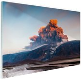 FotoCadeau.nl - Vulkaan schoonheid van de natuur Glas 90x60 cm - Foto print op Glas (Plexiglas wanddecoratie)