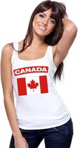 Singlet shirt/ tanktop Canadese vlag wit dames L