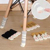 Stoelpoot Sokken - Socks Beschermers Dopjes - Stoel Vloer Bescherming Vloerbeschermers - Grijs