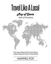 Travel Like a Local - Map of Cervia (Black and White Edition)