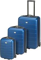 Princess Traveller Rhodos ABS - Kofferset S / M / L - Donker Blauw