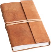 Raw Materials  Natural Notitieboek – 15x23cm – Licht bruin - Leer