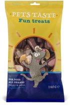 Pets Taste Meat Mix - Hondensnacks - Kip Rund Lam 140 g