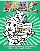 Alexis' Birthday Coloring Book Kids Personalized Books