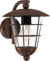 EGLO Vintage Pulfero 1 - Buitenverlichting - Wandlamp - 1 Lichts - Bruin