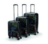 Reisenthel Suitsace set Reiskoffer Makrolon® Polycarbonaat set 3 koffers Stamps Zwart
