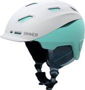 Sinner Moonstone Hybride Skihelm - Wit/Mint - Maat XS/52 cm
