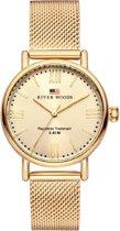 River Woods RW340032 Wisconsin horloge Vrouwen - Goudkleurig - RVS 34 mm