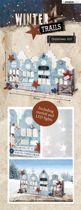 Winter Trails Kerst Huisjes - MDF Pakket - 17 x 30cm - Met lampjes
