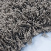 Hoogpolig vloerkleed Life Shaggy Taupe 1500 200x200 cm Taupe