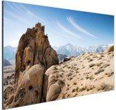Rotsvorming in woestijn Amerika Aluminium 60x40 cm - Foto print op Aluminium (metaal wanddecoratie)