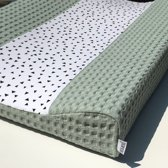 Ini & Mini  Aankleedkussenhoes Triangle / Dusty Mint - Bebe jou (44x72x9)