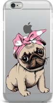 Apple Iphone 6Plus / 6SPlus Siliconen hoesje (schattig hondje)