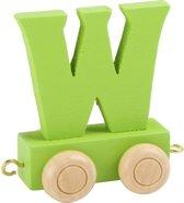 Lettertrein - W - groen