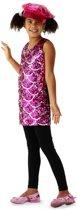 Disco jurk roze maat 134/146