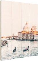 Zonsopgang Venetie Hout 120x160 cm - Foto print op Hout (Wanddecoratie) XXL / Groot formaat!