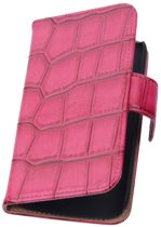 Samsung Galaxy Note 4 N910F Rood | Glans Croco bookstyle / book case/ wallet case Hoes  | WN™