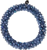 Armband - Sparkle Beads - Donkerblauw - Met rocaille steentjes