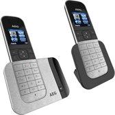 AEG Voxtel D570 - Duo DECT telefoon - Zilver