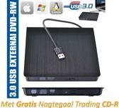 Externe CD en DVD speler / brander writer + gratis CD-R (draagbaar / extern USB 3.0 geschikt voor o.a. CD-R CD-RW DVD-R DVD-RW)   Plug- and Play