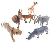 Toi-toys Speelset Wilde Dieren 6-delig 20 Cm