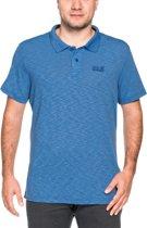 Jack Wolfskin Travel Polo  Sportshirt - Maat XL  - Mannen - blauw