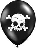 Halloween Ballonnen Schedel 30cm 6 stuks