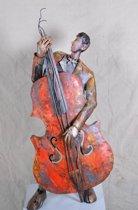 Kunst beeld man met gitaar XXL