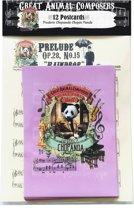 Frederic Chopin Chopanda Panda Animal Composer - Ansichtkaarten - 12 stuks