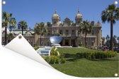 Het beroemde Casino de Monte Carlo op een middag in Frankrijk Tuinposter 60x40 cm - klein - Tuindoek / Buitencanvas / Schilderijen voor buiten (tuin decoratie)