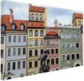 Zeemeermin Warschau Canvas 30x20 cm - Foto print op Canvas schilderij (Wanddecoratie)