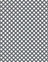 Polka Dots - Slate Grey 101 - Lined Notebook with Margins 8.5x11