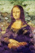 Mona Lisa | Polygon Art | Leonardo da Vinci | Canvasdoek | Wanddecoratie | 40CM x 60CM | Schilderij