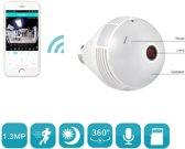 "DrPhone 360 ° Panorama Wifi Camera  €"" Fisheye IP Lamp  €"" CCTV Monitor Lamp  €"" WIFI Night Vision  €"" Beveiligingscamera's Wifi"