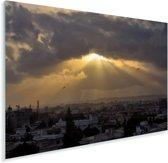 Zonnestralen over Karachi Plexiglas 120x80 cm - Foto print op Glas (Plexiglas wanddecoratie)