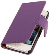 Paars Effen Apple iPhone 6 - Book Case Wallet Cover Hoesje