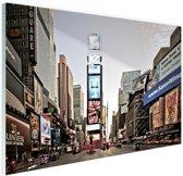 Zonsopgang Times Square Glas 30x20 cm - Foto print op Glas (Plexiglas wanddecoratie)