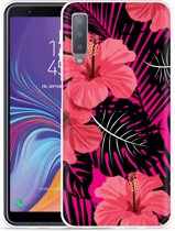 Galaxy A7 2018 Hoesje Tropical Flowers