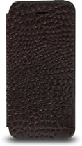 DBramante1928 iPhone 5/5S Leather Slim Folio Cover Crocodile Brown