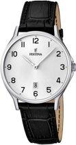 Festina F16745/1 Klassiek - Horloge- Staal - Zilverkleurig - 39 mm