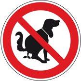Verbodsbord 'Verboden voor hondenpoep' ISO 7010, Ø 200 mm, aluminium